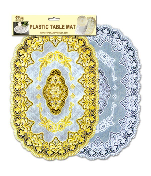 table mat oval silver 12/144s