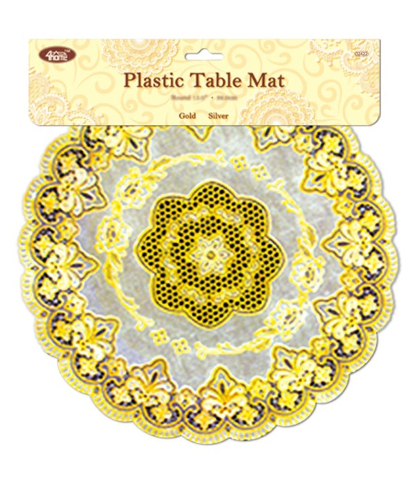 """16"""" placemat rd gold 12/144s"""