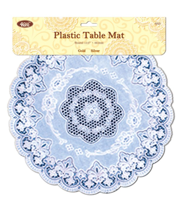 """16"""" placemat rd silver 12/144"""