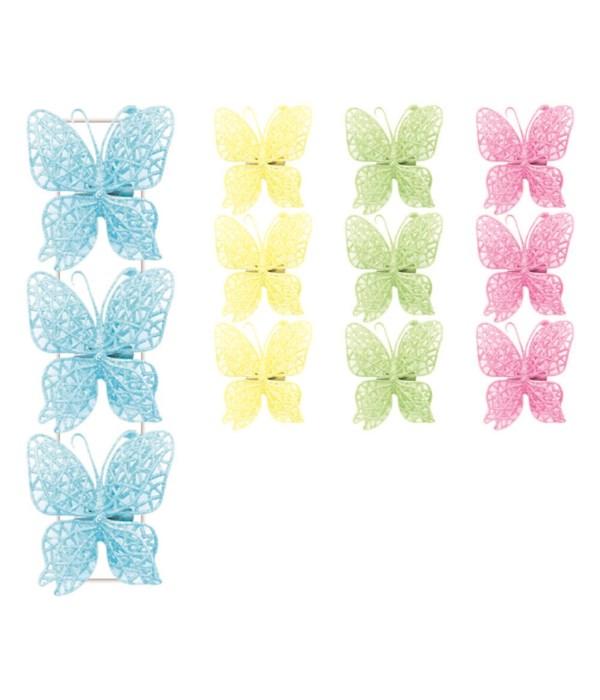 3pc butterfly w/clip 48s