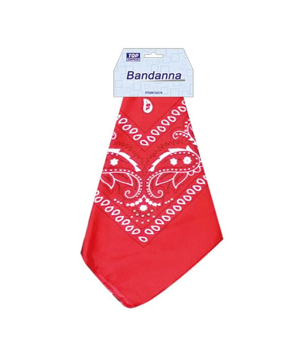 bandana red 12/600s