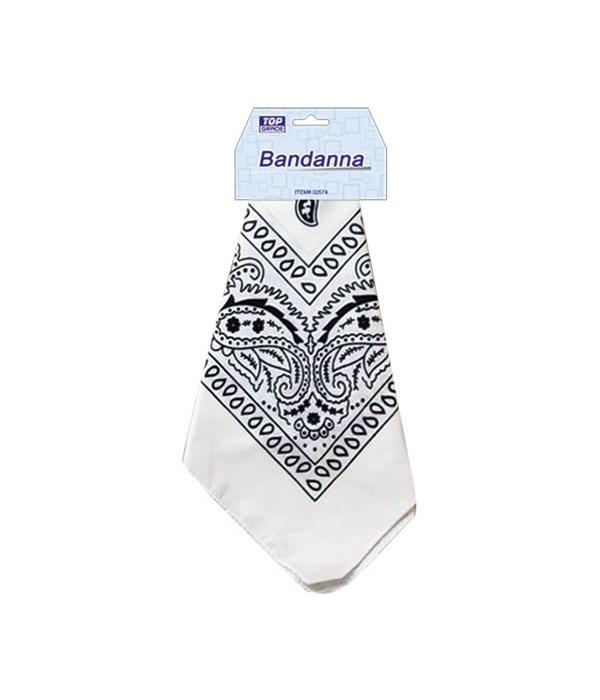 bandana white 12/600s