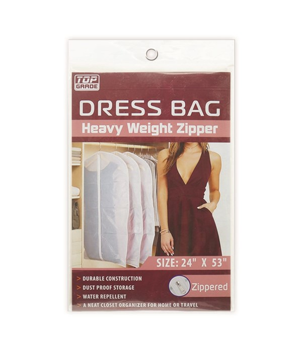 "dress bag clear 24x53"" 12/72s"