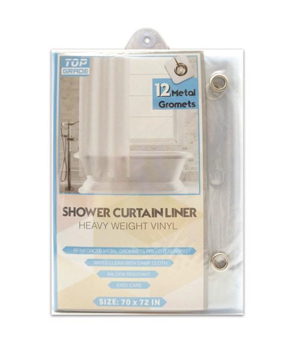 shower curtain 70x72/clear 48