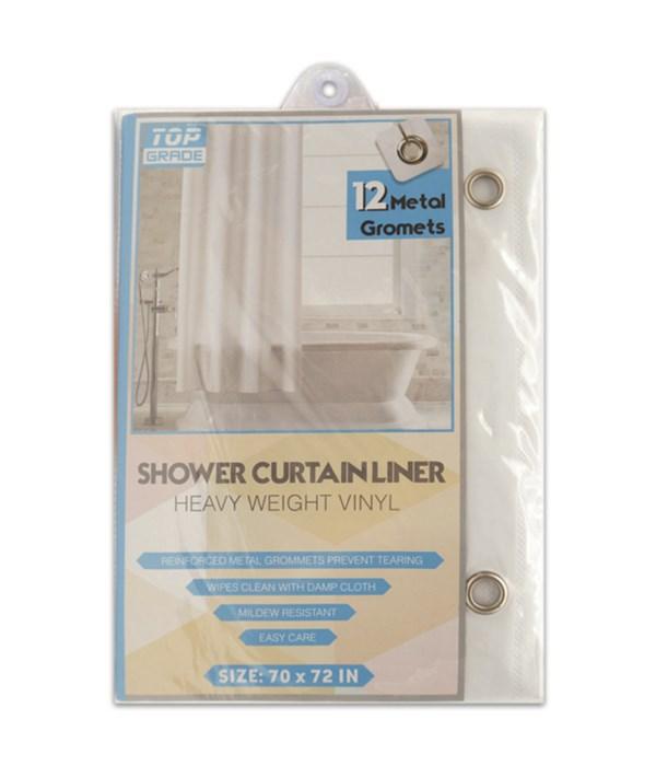 shower curtain 70x72/wht 48s