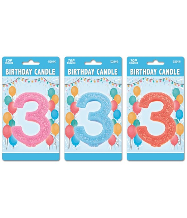 b'day candle GLT #3 24/288s