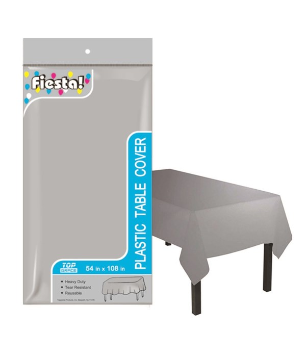 """table cover silver 54x108""""48s"""