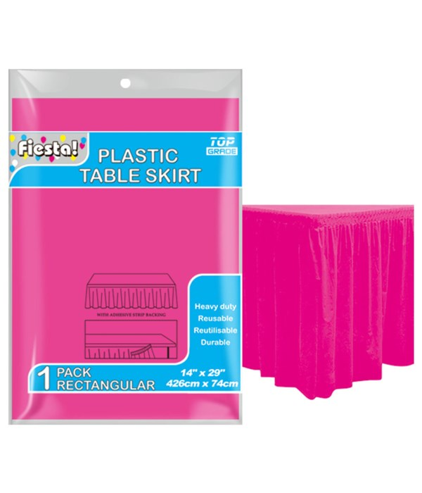 "table skirt h-pink 29x168""/36s"