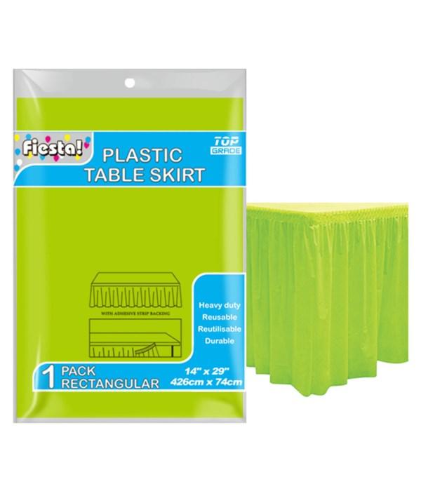 """table skirt lime 29""""x168""""/36s"""