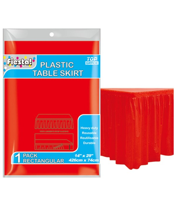 """table skirt red 29x168""""/36s"""