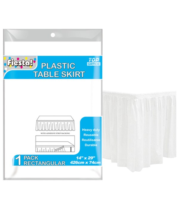 """table skirt white 29x168""""/36s"""
