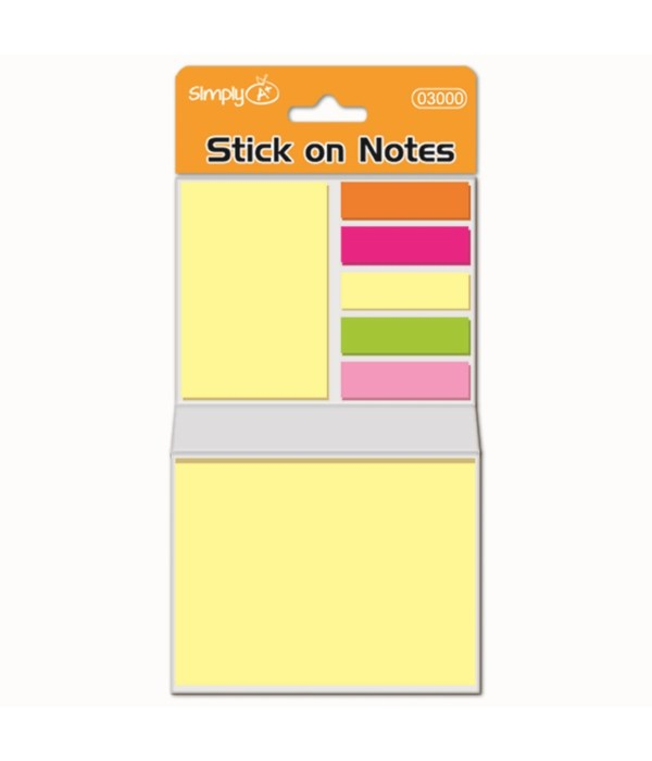 220ct neon stick-on booklet 48