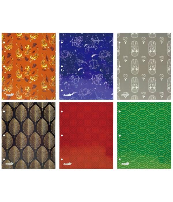 2-pocket paper folder asst 72