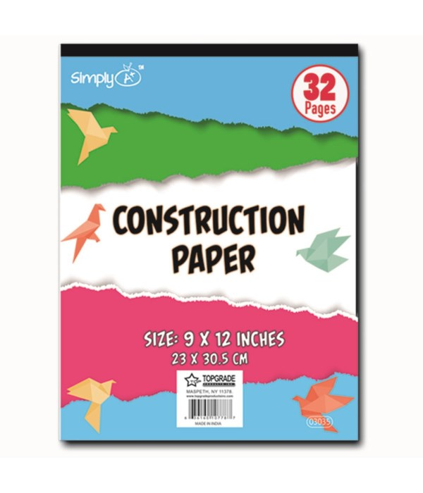 "construction pad 9x12"" 32ct/48"