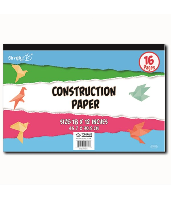 construction pad 12x18/16ct 48