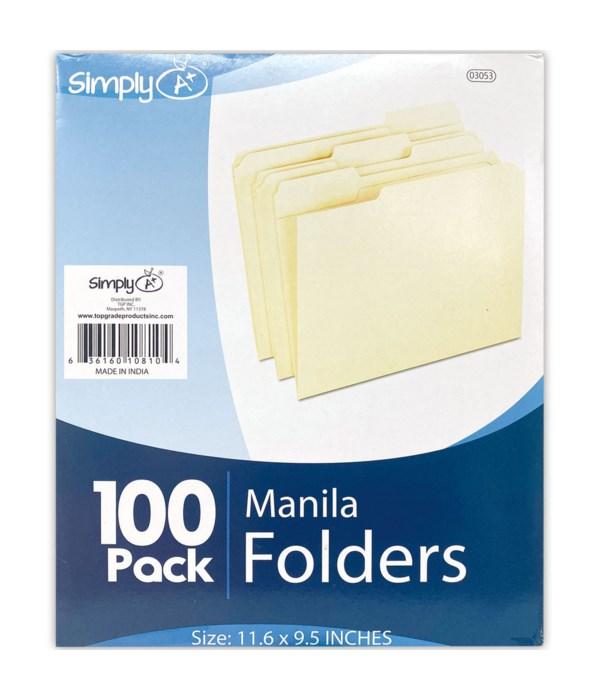 manila file folder 100pcs 5's