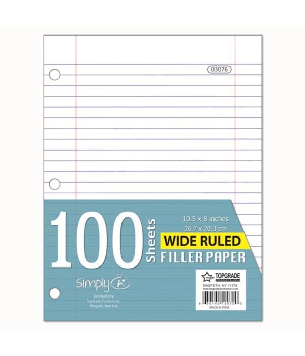 100ct W/R filler paper 48s