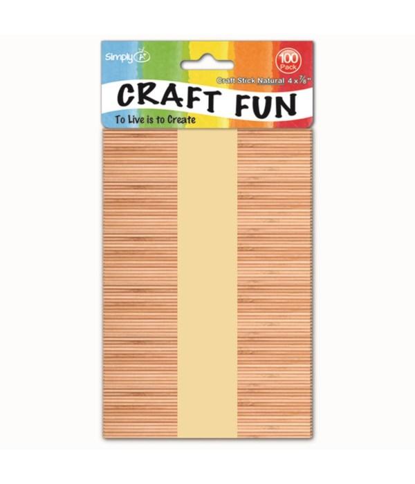 wooden craft stick 100ct/48s
