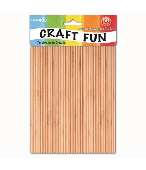wooden craft stick/50ct 48s
