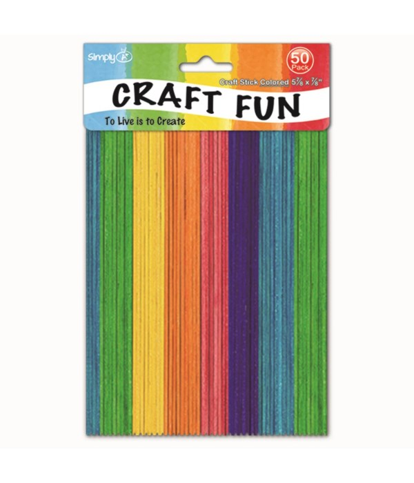 colored wooden stick 50ct/48s