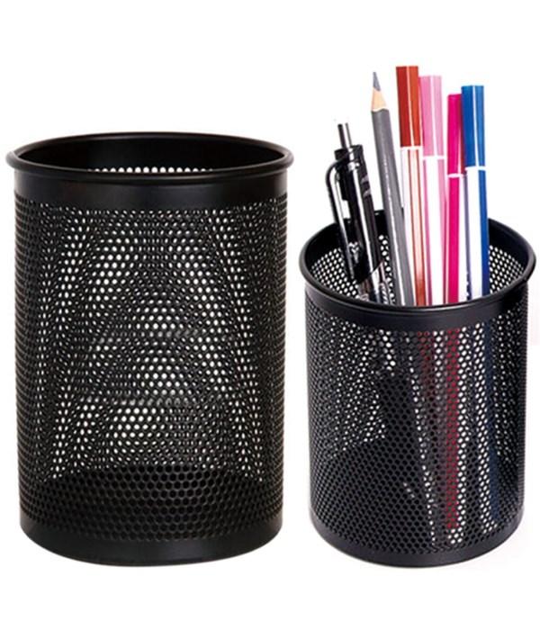 pen holder black 8hx5cm/48s
