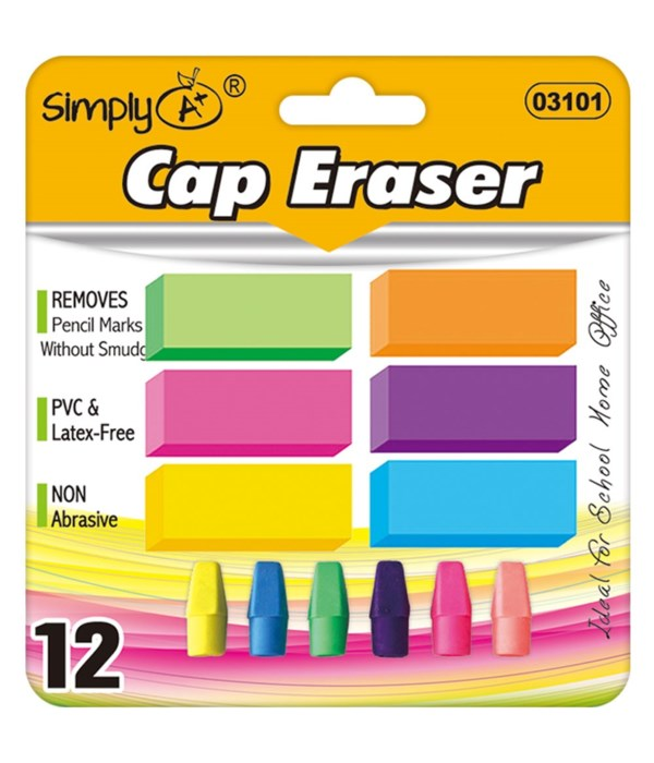 12ct neon eraser set 24/72s