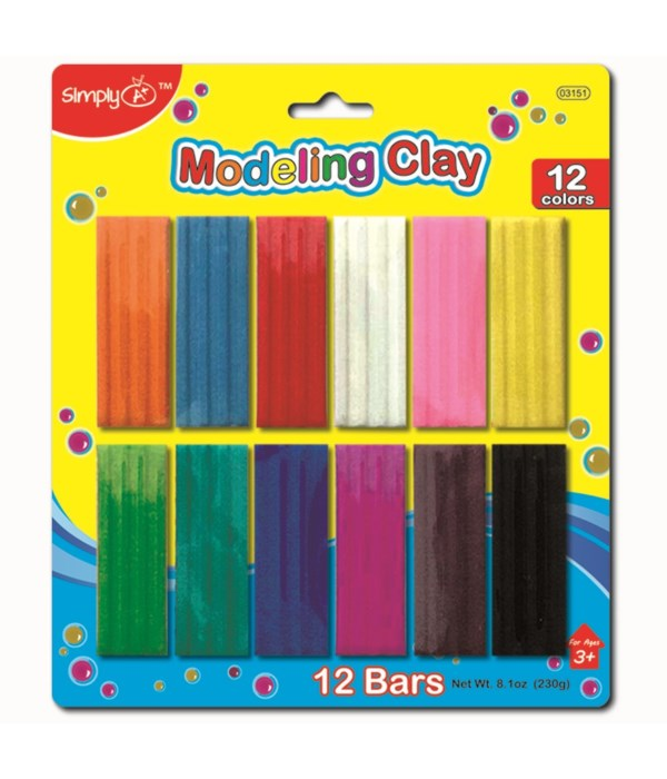 12 Color modeling clay 24/72s