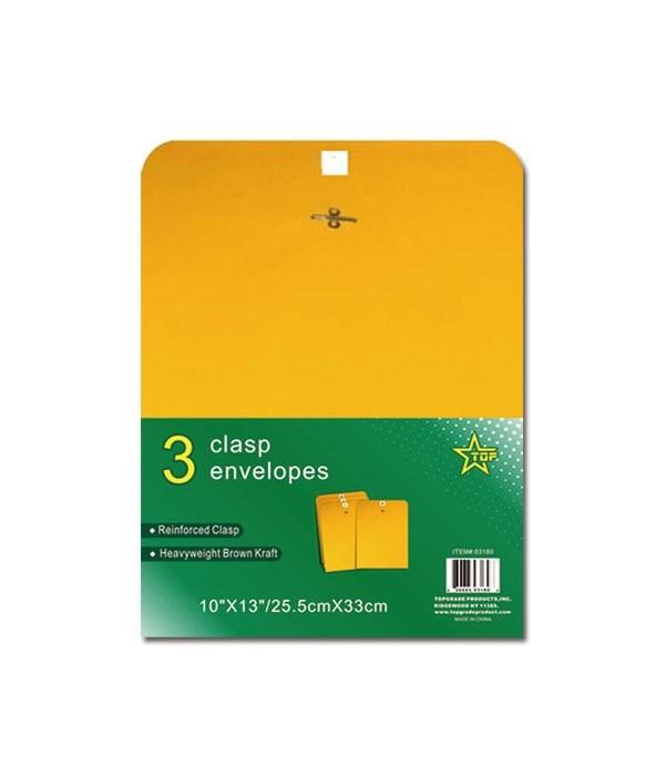 """clasp envelope 10x13""""/3ct 48s"""