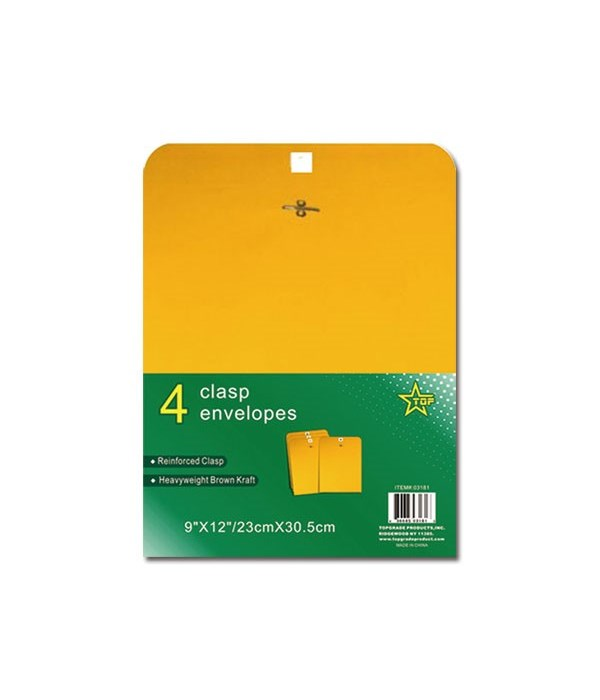clasp envelope 9x12 4ct 48s