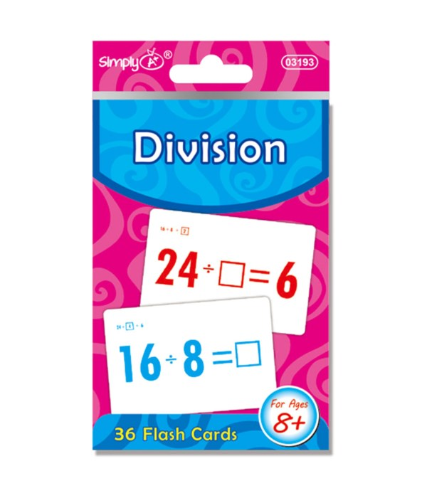 flash card division 24/96s
