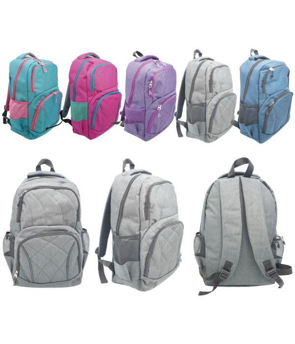 """18""""backpack astd clrs 6/24s"""