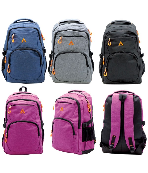 """20""""backpack astd clrs 6/24s"""