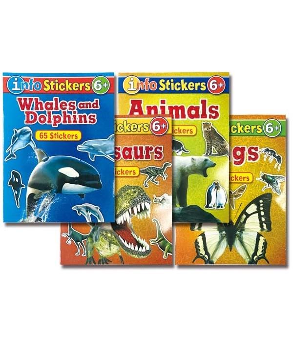 info w/stickers book 48s