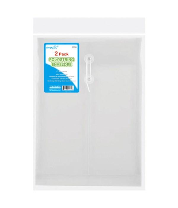 2ct poly string envelope