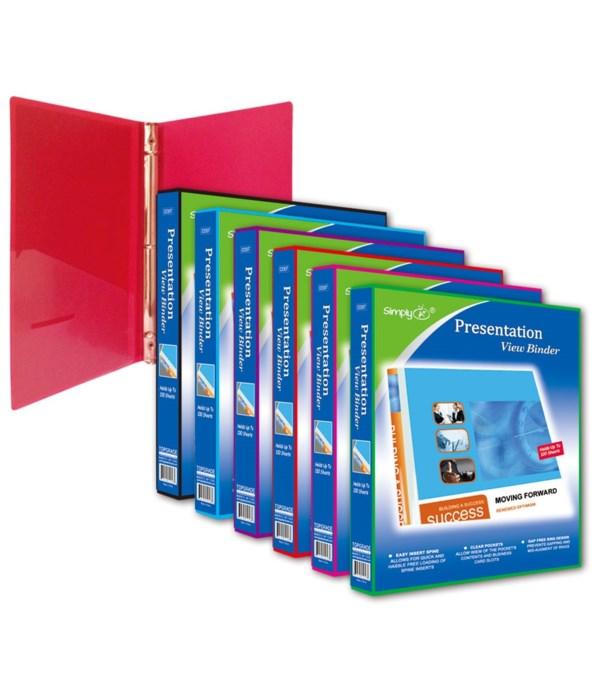 "1"" presentation binder 24s"