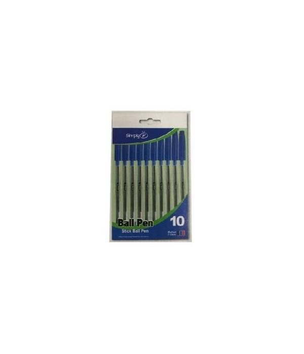 10ct ball pen blue 24/144s