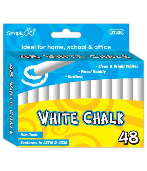 48ct white chalks 48s