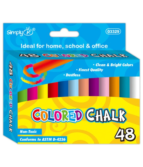 48ct colored chalks 48s
