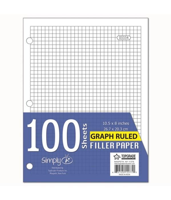 100ct graph filler paper 48s