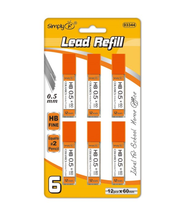 0.5mm/6ct lead refill 36/144s