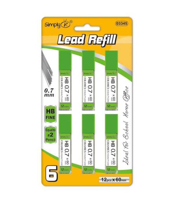 0.7mm/6ct lead refill 36/144s