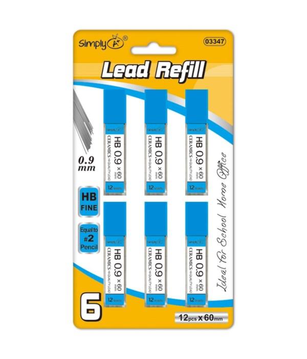 0.9mm/6ct lead refill 36/144s