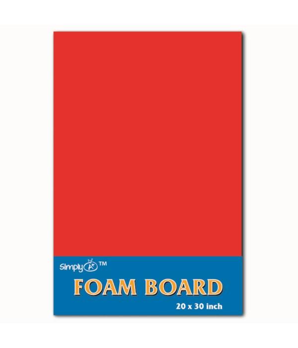 """foam board 20X30""""/red 25s"""