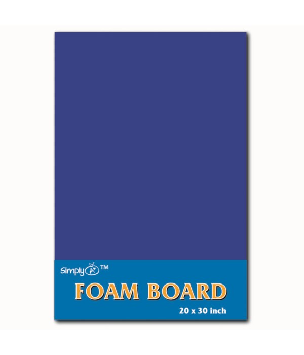 """foam board 20X30""""/blue 25s"""