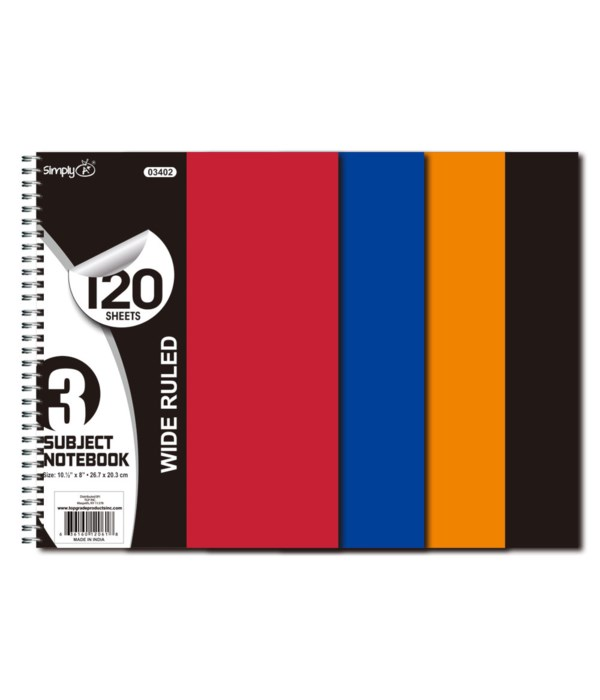 3-sub/120ct notebook 24s