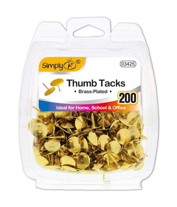 gold thumb tack 200ct 24/144s