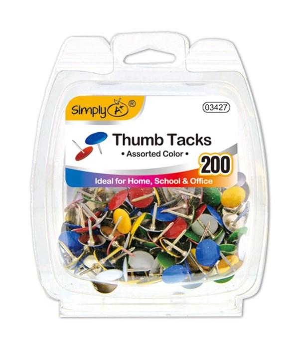 color thumb tack 200ct 24/144s