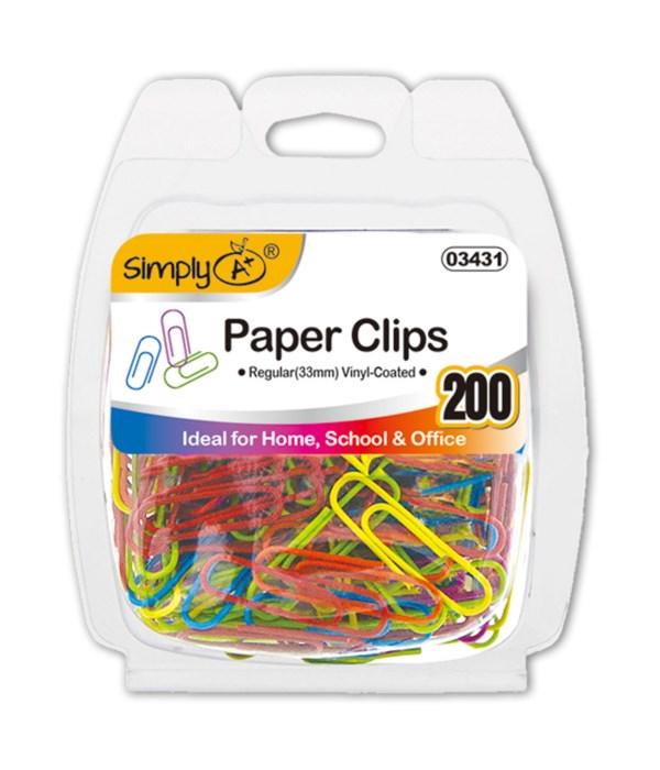 color paper clips 24/144s