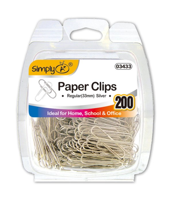silver paper clips 24/144s