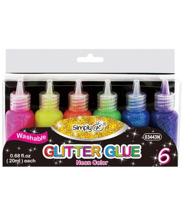 glitter glue neon clr 24/72s